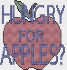 Hungry for Apples Rick and Morty cross stitch chart instant PDF pattern