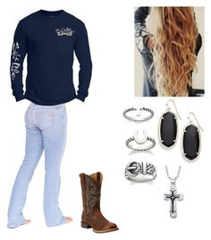 """OOTD tomorrow"" by preppysoccergirl07 ❤ liked on Polyvore featuring Bullet, Salt Life, Ariat, Kendra Scott and Avery"