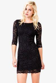 sexy scalloped lace dress