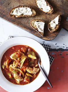 Fish Soup with Roasted Tomatoes, Paprika and Oregano