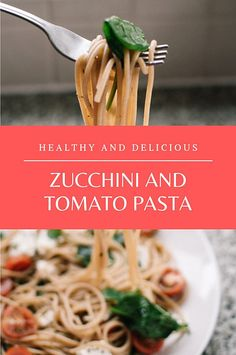 Zucchini and tomato pasta – Healthy and delicious! Healthy Tips, Healthy Recipes, Wheat Pasta, Cheap Wine, Stop Eating, How To Dry Oregano, Eating Habits, Pasta Recipes