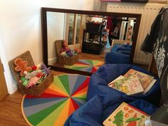 """This is what I would use in my classroom as a """"quiet corner"""". It would be a place for those children who don't feel like being in a loud environment to relax and maybe read a book or color in a quiet setting."""