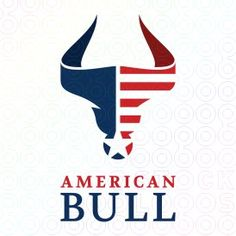 American Bull logo #logo, #design, #animal, #bull, #American, #buffalo, #bison, #flag,