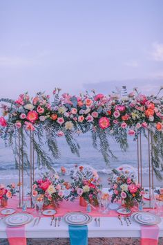 Living Coral at the Beach Wedding Set Up, Wedding Table, Live Coral, Coral Pink, Concept Photography, Ethnic Patterns, Color Of The Year, Vibrant Colors, Colorful