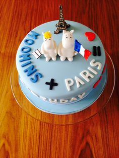 Moomin cake, Paris, birthday cake