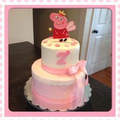 Pippa the Pig birthday cake