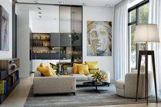 Come arredare il soggiorno con il grigio (Foto 18/40)   Designmag