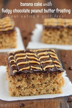 Banana Cake with Fudgy Chocolate Peanut Butter Swirl Frosting + Big Blog News!