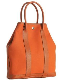 Hermes Orange Canvas Medium Garden Party Tote