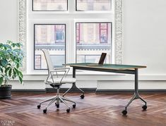 MYNE™️ mobile work tables by adapt to evolving work environments and bring higher design to flexible spaces: Mobile Table, Interior Design Magazine, Conference Table, Higher Design, Floor Design, Home Office, Furniture Design, Interior Decorating, Tables