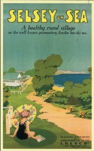 England - Sussex - West Sussex - Selsey on Sea Vintage Travel Poster