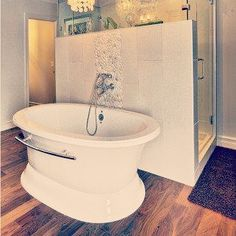Bathroom Hardwood Floor & Wall Tile supplied and installed by Dannburg Floor Coverings. Hardwood Floors In Bathroom, Hardwood Suppliers, Wall Tile, New Builds, Home Decor, Interior Design, Home Interior Design, Home Decoration, Wall Tiles