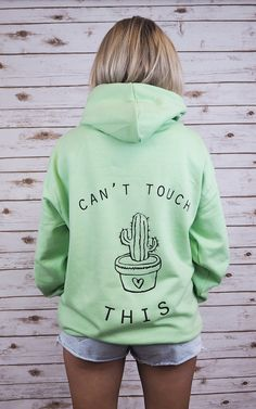 Whether you're going for a late night run or a beach bonfire, this cozy but breathable cactus hoodie is just the item to throw on.