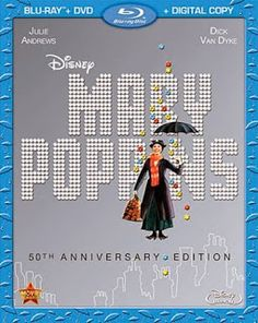 Mary Poppins has been released from Disney's Vault on blu-ray disc and DVD.  #marypoppins #bluray #thevault