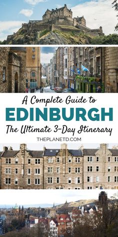 A guide to Edinburgh Scotland The ultimate 3 day Edinburgh itinerary Everything you need to know about Scotlands capital including things to do in the city food recommen. Edinburgh Restaurants, Edinburgh Tours, Edinburgh Castle, Edinburgh Scotland, Scotland Travel, Ireland Travel, Scotland Food, Visiting Scotland, Scotland Trip