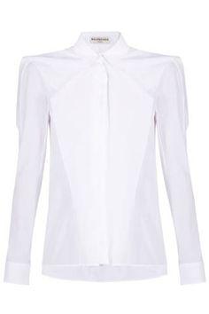 "<p class=""p1"">Balenciaga Loose Ruffle Front Shirt, $859; <a href=""http://bysymphony.com/balenciaga-loose-ruffle-front-shirt-31247?utm_source=polyvore"