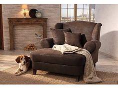 Loveseat sessel xxl  Sessel aus 100% Polyester in der Farbe Grau, inkl. zwei Kissen. B ...