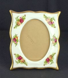 Royal Albert Old Country Roses Porcelain Photo Frame 1st Quality VGC
