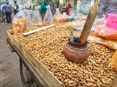 Roasted Groundnuts on the streets of Indore.
