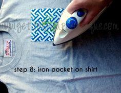 DIY Monogrammed Pocket Tee