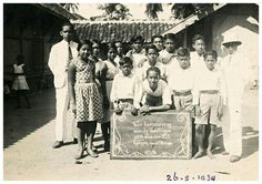 Hollands Inlandse School (H..I.S.) Tjilegon - Banten 1934.
