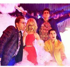 On set | Matt, Dianna, Harry, Darren ❤ #Glee