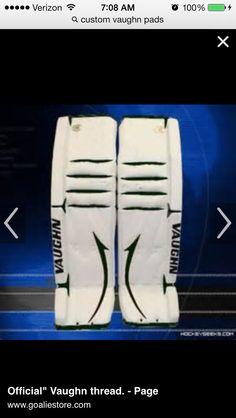 Custom pads Goalie Gear