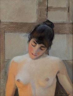 Ramon Casas - 'Bust de dona' (detalle)