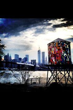 Water Tower, Empire State Building, Brooklyn Bridge, Skyline, Manhattan, NYC, New York