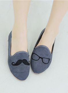Mustache loafers