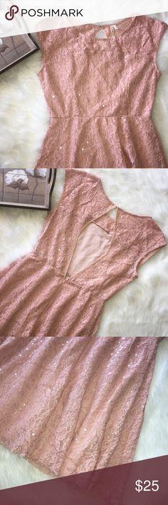 Love Point Pink Sequin Dress Adorable Love Point Pink Sequin dress. In excellent preowned condition. Size large. Love Point Dresses Mini