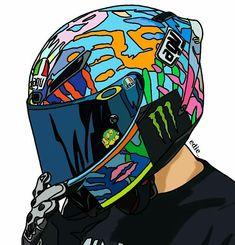 Arte Dope, Bike Drawing, Black Panther Art, Motorbike Design, Bike Pic, Anime Friendship, Deadpool Wallpaper, Bike Illustration, Valentino Rossi