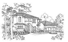 Italianate House Plan with 3160 Square Feet and 5 Bedrooms(s) from Dream Home Source   House Plan Code DHSW43409