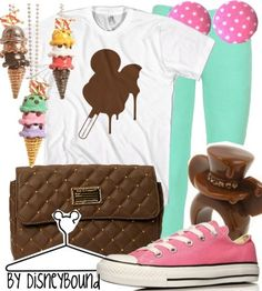 Mickey Mouse, ice cream by Cakeworthly. Disney Bound. Disney Fashion Outfits.