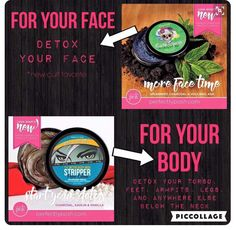 Cackle Spackle charcoal powder,volcanic ash,kanolin clay and spearmamint detox pores leaving your face cackling w glee Stripper Detox for your body perfect for #athletes filled w charcoal, kanolin clay and aloe deep detox for skin. CarrieLovett.po.sh/