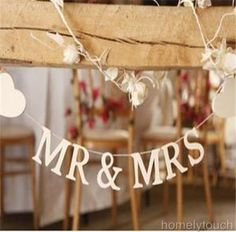NEW MR & MRS GARLAND BUNTING BANNER WEDDING TABLE TOP DECORATION | eBay