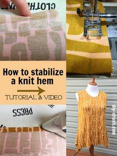 When you are new to sewing with knit fabric, it might be a hassle to find your preferred way of finishing hems. It also depends of what type of knit fabric you are working with. Learn how to stabilize a knit hem with fusible tape.