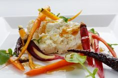 Ricotta With Pickled and Roasted Baby Carrots