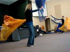 flag dance worship - Helen & Sarah-Lynn