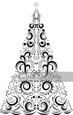 vector art Christmas Tree  Christmas Tree Vector Graphics Set