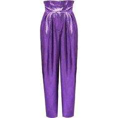 Harem Pant | Moda Operandi ($1,850) ❤ liked on Polyvore featuring pants, alexandre vauthier, purple, high rise pants, high rise trousers, purple pants, harem trousers and pleated trousers
