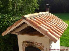 Kleiner #Grillofen mit #mediterranen #Dachziegeln Roof Tiles, Curves, Architectural Materials, Summer Recipes, Lawn And Garden, Pictures