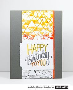 Video: Use ink daubers to create a colorful background and coordinating sentiment for a birthday card.