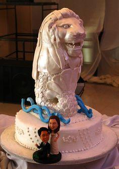 3D Merlion wedding cake