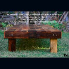 Don't miss Gazwareen Driftwood Furniture Exhibitions in Cairo this weekend