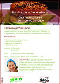 Alimentação Integrativa - Receitas para Viver Bem: HAMBURGUERES VEGETARIANOS/VEGANOS - AULA DE CULINÁ...