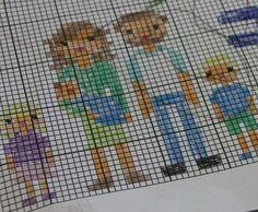 Cross Stitch Family Portrait {free patterns}