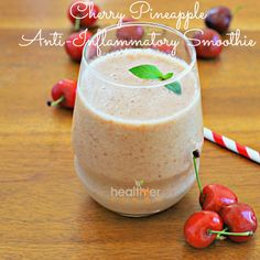 Cherry Pineapple Smoothie - The Best Anti-inflammatory Smoothie (Gluten Free, Raw)