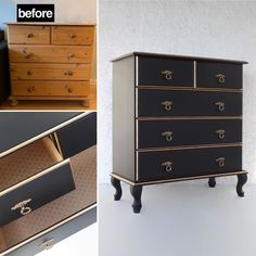 """Aleksandra's Furniture on Instagram: """"Before and after ❤️ Available for sale! #furniture #funfurniture  #paintedfurniture #trondheim  #Aleksandrasfurniture #gjenbruk…"""" Cool Furniture, Painted Furniture, Green Dresser, Trondheim, Instagram, Home Decor, Green Chest Of Drawers, Decoration Home, Room Decor"""