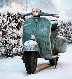 Vespa in the snow